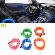 Car Styling 3m Car Interior Light Ambient Light Cold Light Line DIY Decorative Dash board