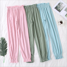 New arrival women sleep bottoms cotton pijamas elastic material elegant clothes comfortable elegant simple full length(China)