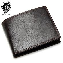 Buy TAUREN 2018 New Men Wallet 100% Genuine Leather Crazy Horse Zippper Coin Pocket Top Grain Cow Leather Wallet Men for $11.64 in AliExpress store