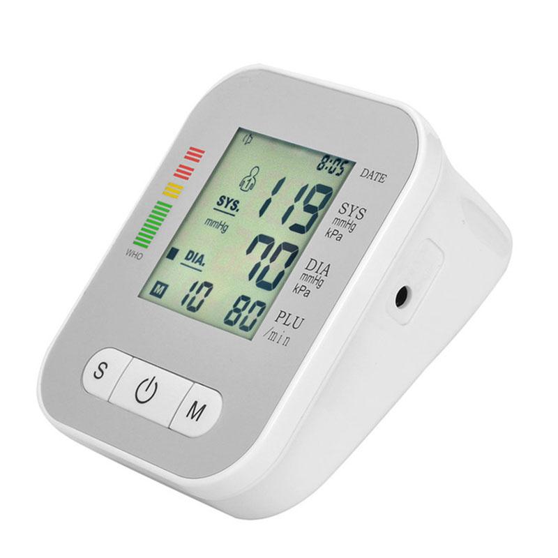Digital Arm Blood Pressure Monitor Household Health Care Electronic Tonometer Sphygmomanometer Measurement Pulse Monitors 13