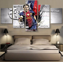 New 5 Pieces/sets Canvas Art Canvas Paintings HD FC Barcelona Living Room Decorations For Home Wall Art Prints Canvas