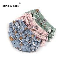 3b311336b2af0 Bebé verano Floral bombacho de algodón de niño infantil niñas PP pantalones  cortos recién nacido playa