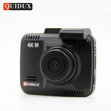 QUIDUX 4K Resolution Super HD Car DVR 2160P Video Recorder GPS Logger Novatek 96660 Camcorder 1080P Dashcam Camera Night Vision(China)