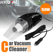 150W 12V Car Portable Hand Held Cyclonic Car Auto Vacuum Cleaner Wet Dry Duster Collector With Car Lighter Socket