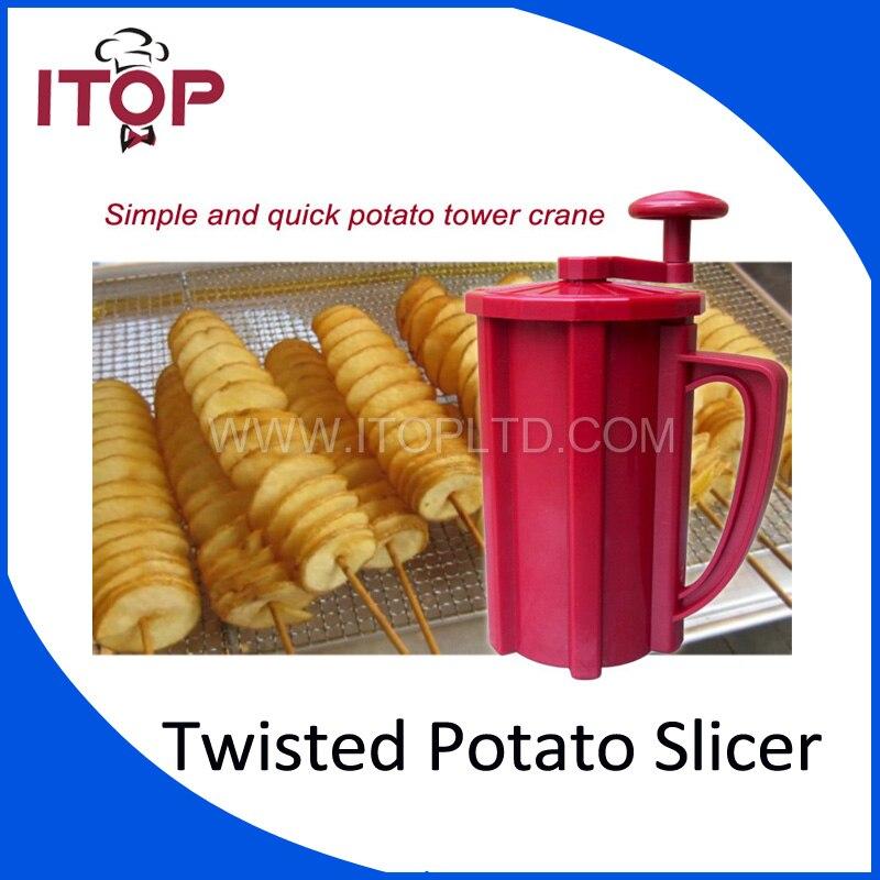 Twisted Potato Cutter,ABS Plastic Commercial Manual Tonardo Potato Slicer Carrot Cutting Machine<br>