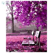 Novel Arrival 40*50 Digital Canvas DIY Oil Painting By Numbers Pictures Coloring By Number Purple Romance(China)