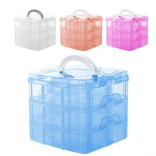 New 3 Layers Detachable DIY Plastic Storage Box Desktop Transparent Medicine Chest Jewelry Organizer Cabinet for Small Objects(China)