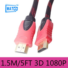 Top Quality Gold Plated High Speed 1.4V 3D HDMI Cable 1.5M 5ft M/M For 1080P HDTV Game Xbox