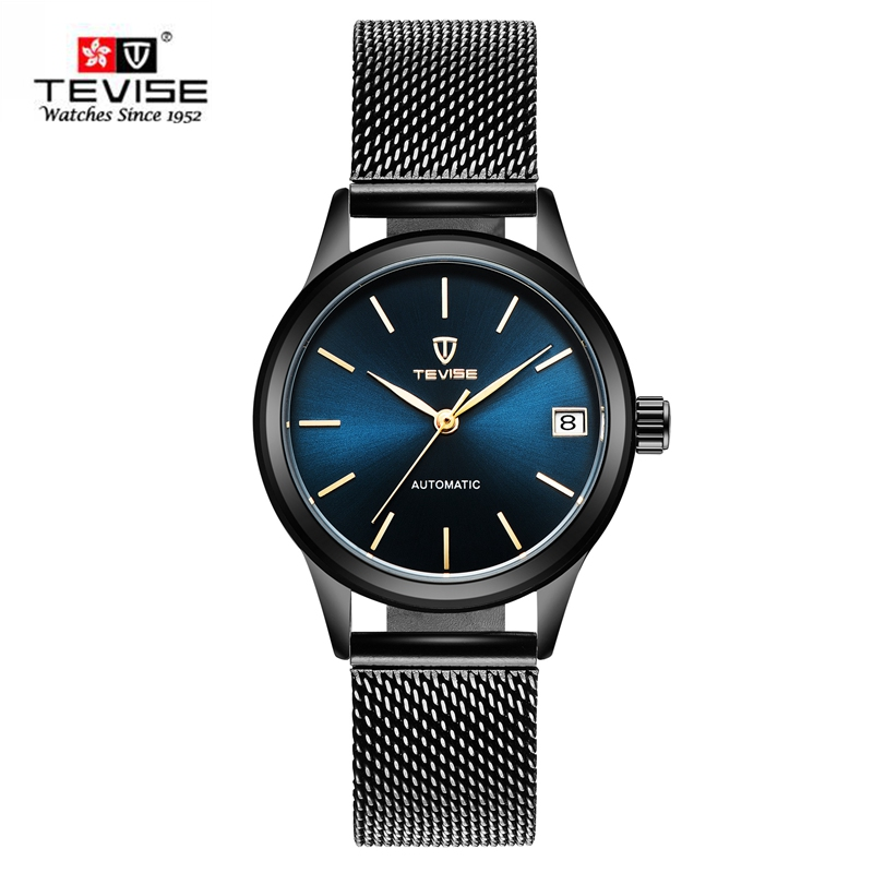 TEVISE New 2107 Top Fashion Dress Women Watches Skeleton Automatic Mechanical Watch Famous Clock Montre femme Relogio Feminino<br>