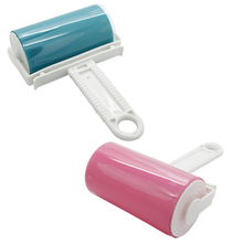 2016 Super Sticky Washable Dust Lint Roller With Cover for Fluff Pet Hair Dust Remover Lint Sticking Dusting Roller Free Ship(China)