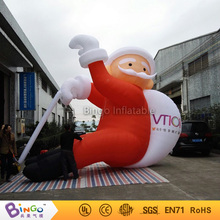 20ft high(6m) outdoor christmas inflatable santa claus climbing wall with gift bag factory direct sale BG-A0344-22 festival toy