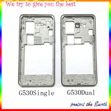 Original New625 Middle Frame Bezel Housing Cover Case with Side Butoon For Samsung Galaxy Grand Prime G530 Replacement Part