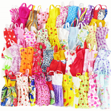 10 Pcs Mix Sorts Beautiful Handmade Party Dress Fashion Clothes For Barbie Doll Best Gift Kids Toys(China)