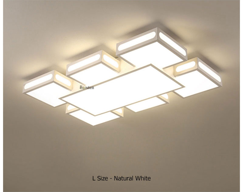 Modern Simple Acrylic LED Ceiling Lights Minimalist Rectangular Ceiling Chandelier Lights Lamp For Living Room Bedroom 220V (10)