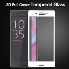 Luxury 3D Curved Edge Colorful Full Cover Screen Protector For Sony Xperia X Tempered Glass For Sony Xperia XA