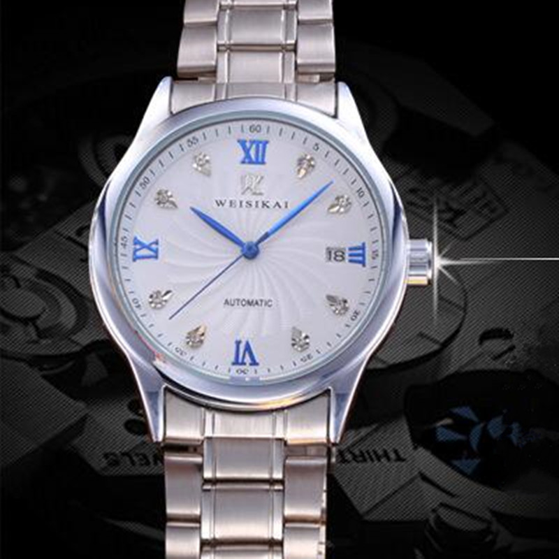 Relogio Masculino Automatic date Men Watch Fashion Brand waterproof Mechanical Watches Stainless Steel Wristwatch Male clock  <br>