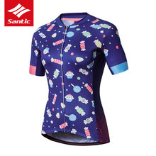 Santic Cycling Jersey Women Short Sleeve Summer DH MTB Pro Mountain Road Bike Bicycle Clothing - Sunshine Outdoor Sports CO., LTD store