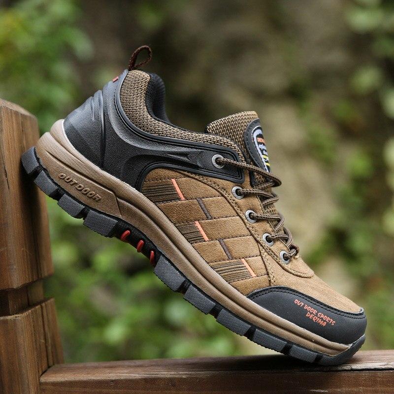 Night Elf men hiking shoes women breathable waterproof suede leather sneakers 2017 climbing sport walking lovers trekking shoes<br><br>Aliexpress
