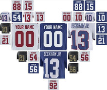 new york ny giants odell beckham jr jersey eli manning lawrence taylor Evan Engram customized personalized custom american