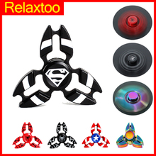 Buy Metal Fidget Hand Spinner Rotation Latest Stylish Colorful Finger Spiner DIY Super Hero Tri-spinner Adult Kid Child Toy Gift for $1.99 in AliExpress store