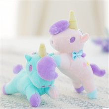 New Unicorn Plush Toy Stuffed Animals Toys Baby Infant Girls Toys Animal Dolls Key Ring Chlidren Kids Birthday Gift JK897274(China)