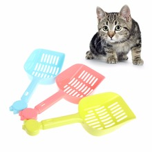 Candy Colors Durable Plastic Pet Dog Cat Sand Waste Scooper Scoop Hollow Shovel Cleaner Tools Cat Supplies New C42(China)