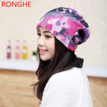 RongHe New Brand Spring Summer Hip-Hop Hat Sacrf Beanies Women Knitted Hat Skullies Lady Piles Cap Fashion Women Hat Wholesale(China)