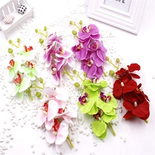 5PCS Handmade Colorful 6.5CM Silk Orchid Artificial Flowers Head For Home Party Wedding Car Decoration Scrapbooking Fake Flowers