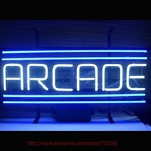 New ARCADE Neon Sign Neon Bulbs Game Room Display Custom Glass Tube Neon Publicidad Handcrafted Led Neon 360 Attract Sign 18x14