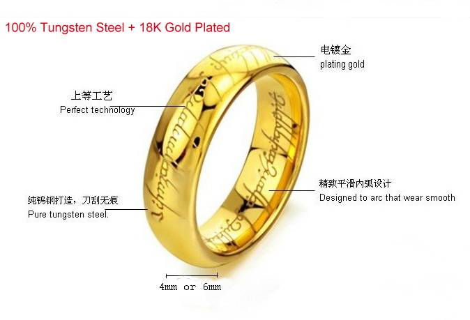 Ring Size of Gold color