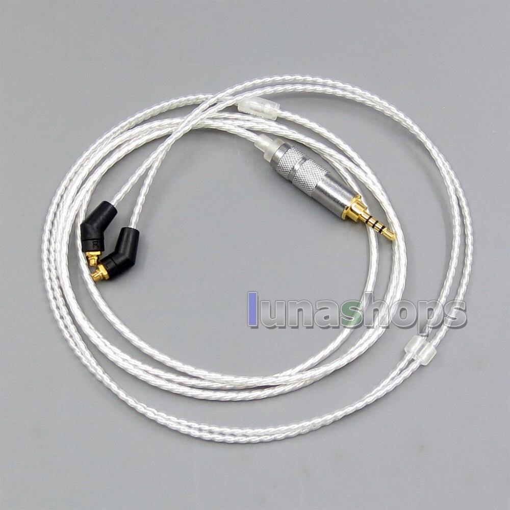 2.5mm TRRS 6n OCC Silver Plated Earphone Cable For Etymotic ER4 XR SR ER4SR ER4XR