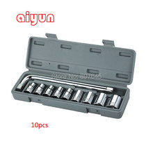 "10pcs 1/2""(12.5mm) Auto maintenance tools combination socket set wrench set screwdriver set hexagon socket"