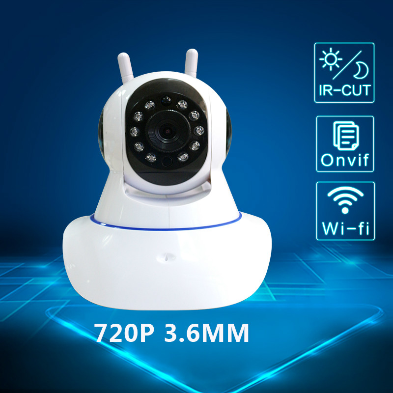 720P WiFi IP Camera  P2P  CCTV Security Camera Night Vision Infrared Two Way Audio 1MP Baby Camera Monitor Wireless Camera<br>