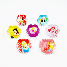 Free Shipping 50PCS Lovely Cartoon Barbie Princess Girl Ring Beautiful Elegance Fashion Wedding kids Cinderella Ring(China)