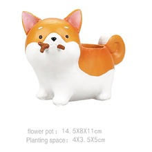 Magic Home Office Garden Animal Pot Husky Dachshund Dog Vase Flowerpot Flowers(China)