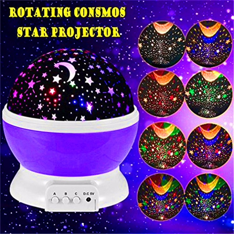 LEDERTEK Stars Starry Sky LED Night Light Projector Luminaria Moon Novelty Table Night Lamp Battery USB Night light For Children(China (Mainland))