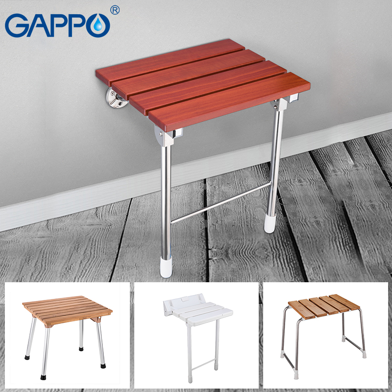 Bathroom Fixtures Gappo Wall Mounted Shower Seats Folding Waiting Chairs Bench Relax Chair Shower Seats Bathroom Stool Cadeira Wall Mounted Shower Seats