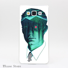 3880CA Twin Peaks Transparent Hard Cover Case for Galaxy A3 A5 A7 A8 Note 2 3 4 5 J5 J7 Grand 2 & Prime