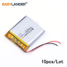 10pcs /Lot 500 mah 3.7 V 503035 lithium Li ion polymer rechargeable batteryfor dvr GPS mp3 mp4 cell phone speaker 053035(China)