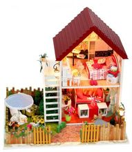 Creative Valentine's Day GIFT 2 floors  dream Garden house DIY Miniature Model Kit  Wooden Doll House, Big Size