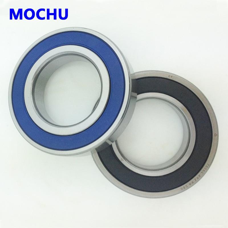 1 Pair MOCHU 7002 7002C 2RZ P4 DF A 15x32x9 15x32x18 Sealed Angular Contact Bearings Speed Spindle Bearings CNC ABEC-7<br>