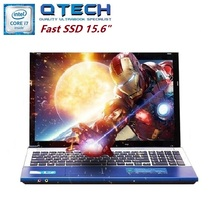 "15.6"" Gaming Laptop i7 8GB RAM SSD 64/120/256GB +750GB HDD Large Intel Notebook PC DVD Metal AZERTY Spanish Russian Keyboard"