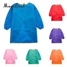 MagiDeal Children Kids Long Sleeve Apron Drawing Painting Waterproof Smock S/M/L