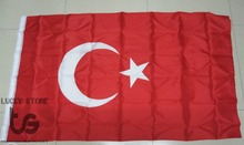 Turkey  flag  Banner  Free shipping  90*150cm Hanging  National flag  Turkey     Home Decoration  Turkey  flag