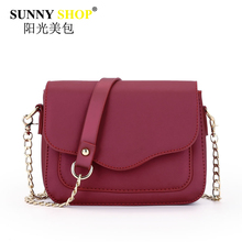 SUNNY SHOP brand women chain bags Envelope handbags high quality pu leather shoulder messenger bag solid zipper clutch mb06
