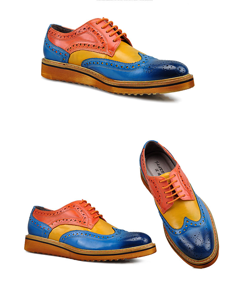Värvikad oxford kingad nahast
