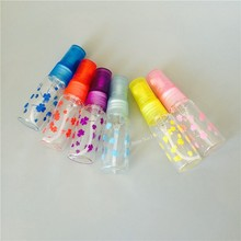 5Pcs/lot 5ml Candy Color Empty Glass Spray Bottles Refillable Traveler Colorful Leaf Design Mini Sample Perfume Bottle Atomizer
