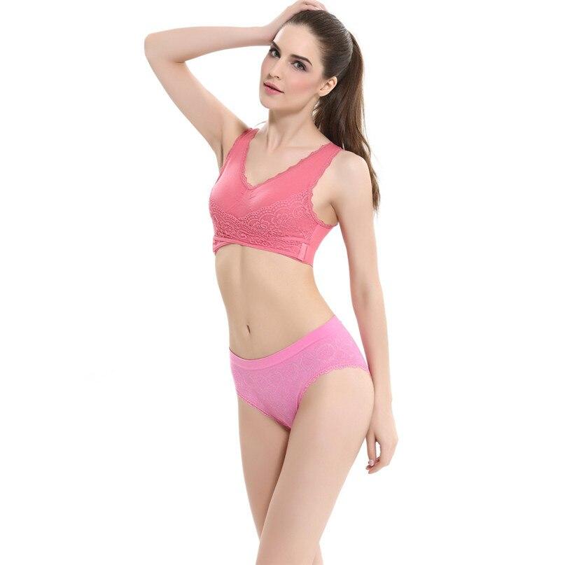 Women Sports Bra Sports Underwear Fitness Yoga Running Pad Cropped Top Sports Wear Tank Tops Anti-Sweat Lace Bra #3j#F (25)