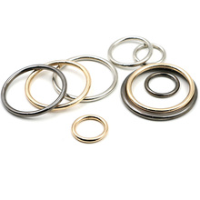 20pcs/lot 15mm/20mm/25mm/30mm Black Gold Circle O Ring Connection Alloy Metal Shoes Bags Belt Buckles DIY Accessorie Wholesale