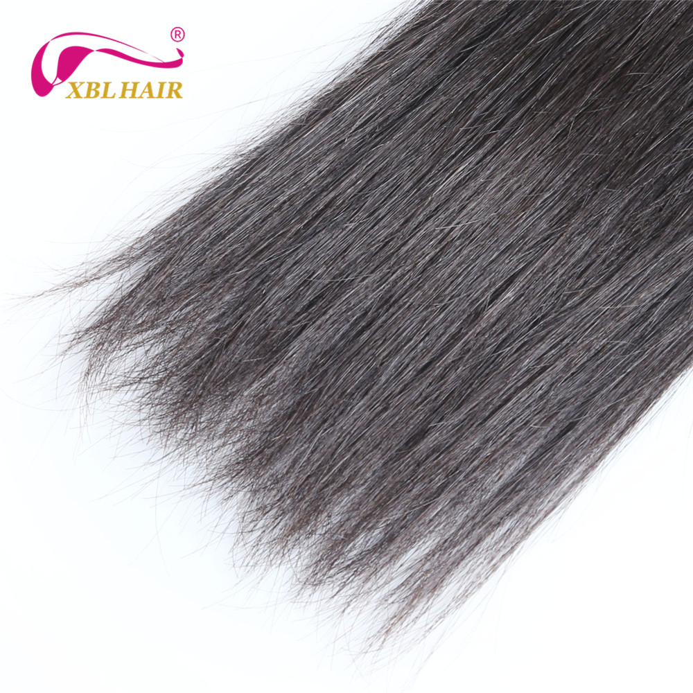 XBL HAIR Unprocessed Brazilian Virgin Hair Straight Human Hair Bundles Weave Natural Color Can Be Dyed 8-30″ Free Shipping